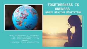 Togetherness is Oneness Group Healing Meditation @ Raw Healing
